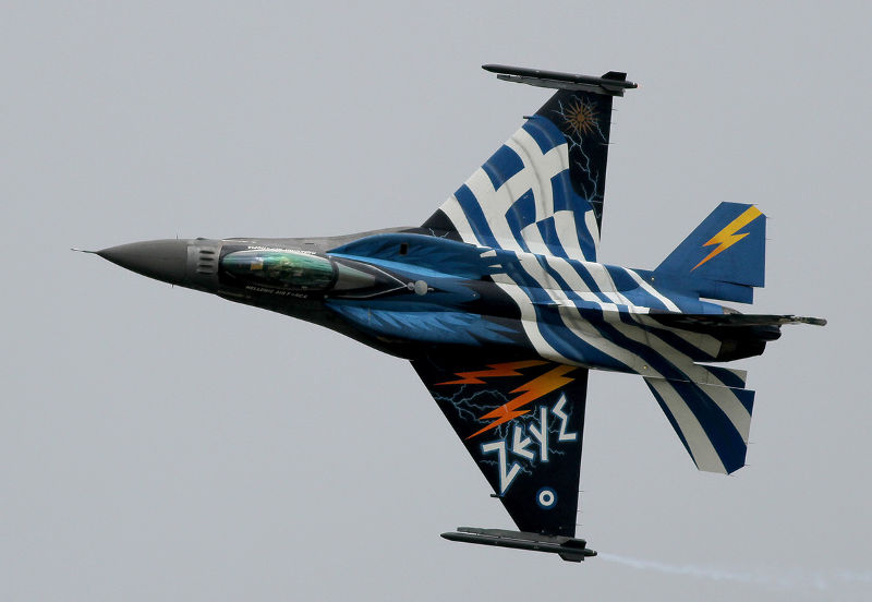 Helenic F16 'Zeus' by Paul Fiddian