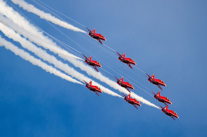 Red Arrows by Paul Johnson