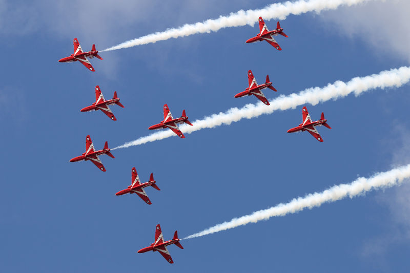 RIAT Red Arrows
