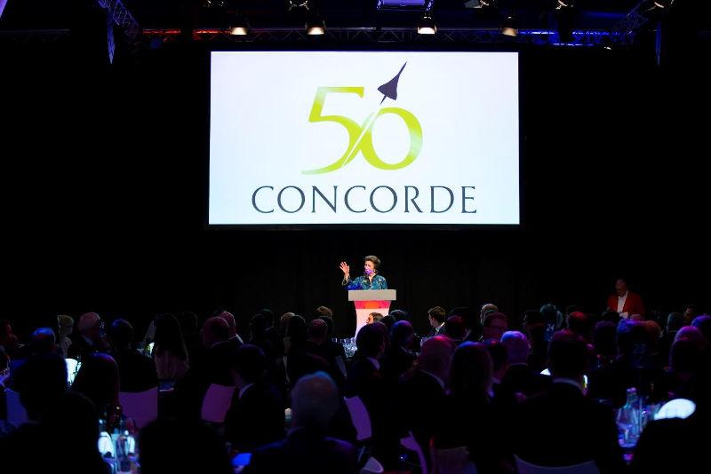HRH Princess Royal at Concorde50 Gala Dinner