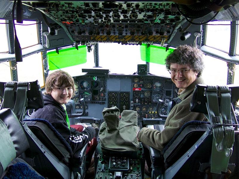 RAF Museum Cosford Hercules Cockpit