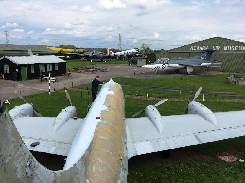 Heron at Newark Air Museum