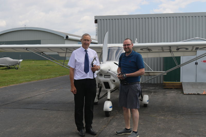 Lewis Wiffen - trial lesson with Phoenix aviation at Solent Airport