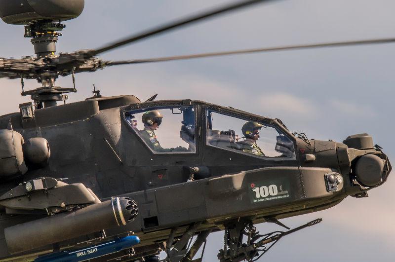 Apache at Dunsfold