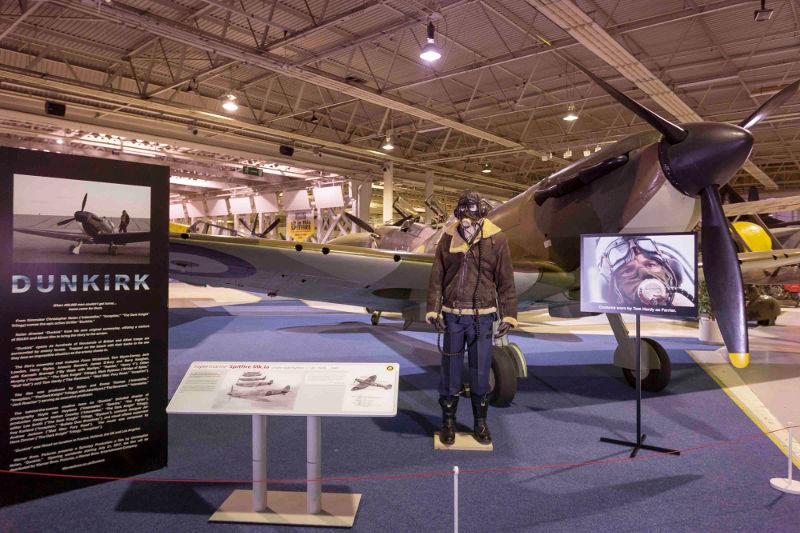 Tom Hardy uniform at RAF Museum