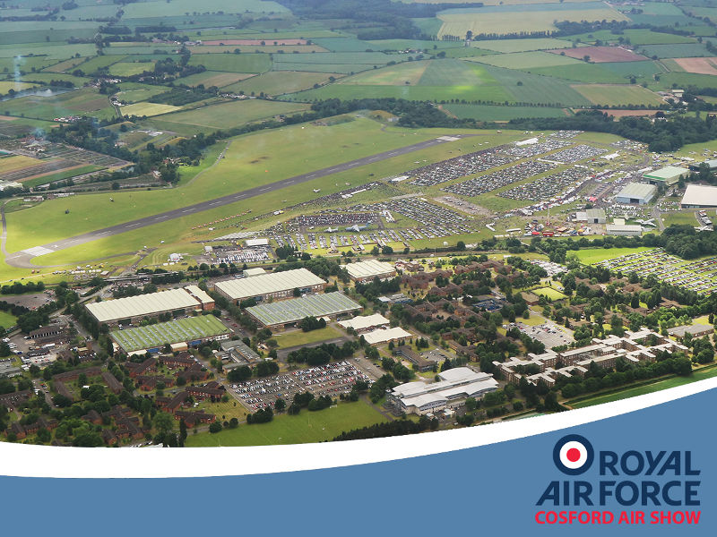 RAF Cosford Overhead by Peter Reoch