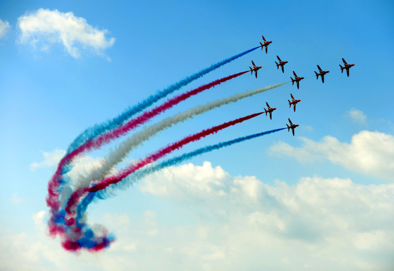 Red Arrows by Pete Gardner
