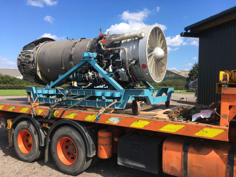 Conway engine arrives at Newark Air Museum