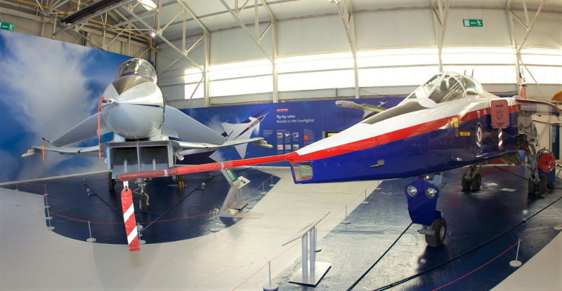 EAP and Jaguar at RAF Museum Cosford