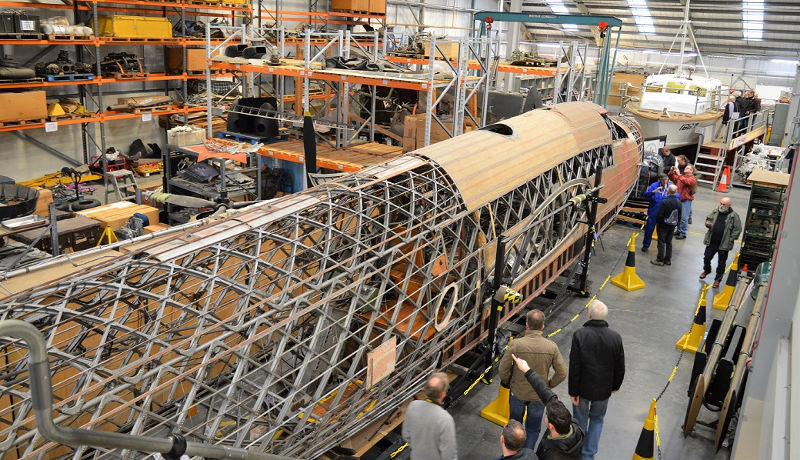 Wellington restoration at RAF Museum Cosford