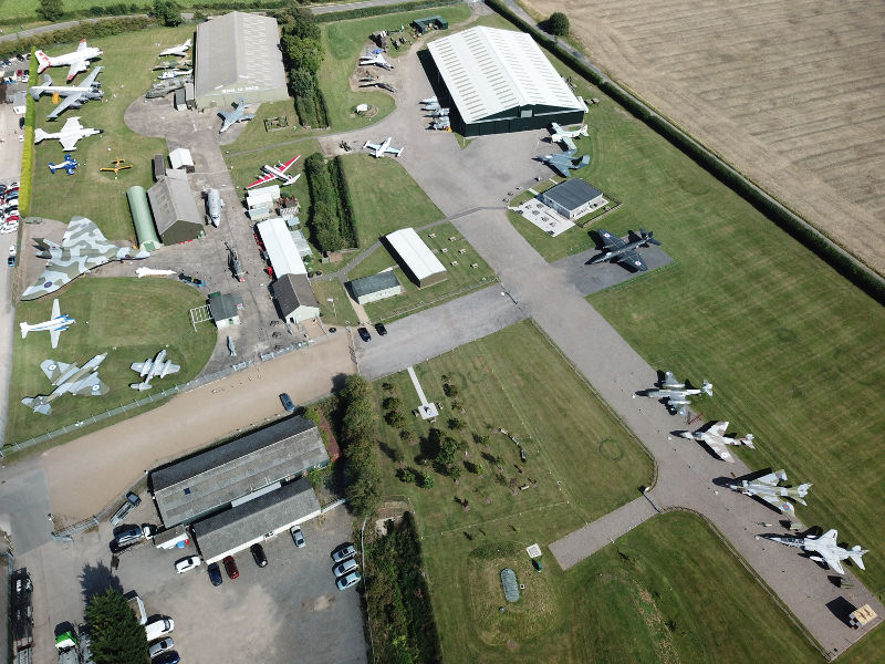 Aerial view of Newark Air Museum