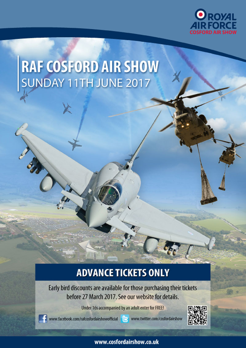 Cosford Air Show 2017 flyer
