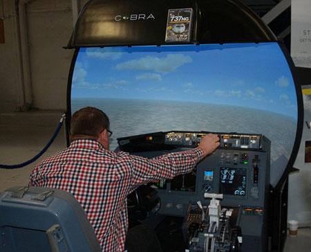 Cosford Flight Sim exhibition