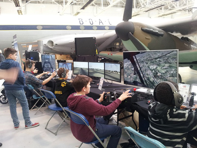 Flight Sim at RAF Museum Cosford