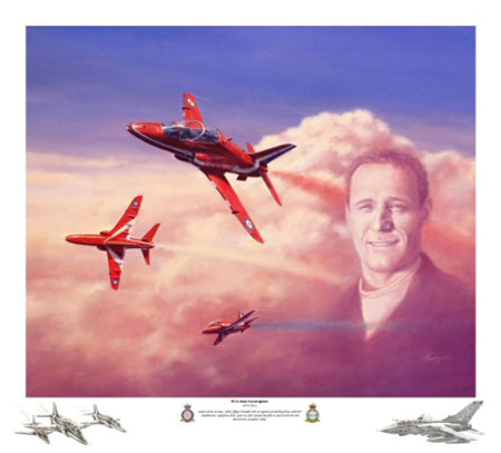 Terry Jones Art Red Arrows Remarque Prints