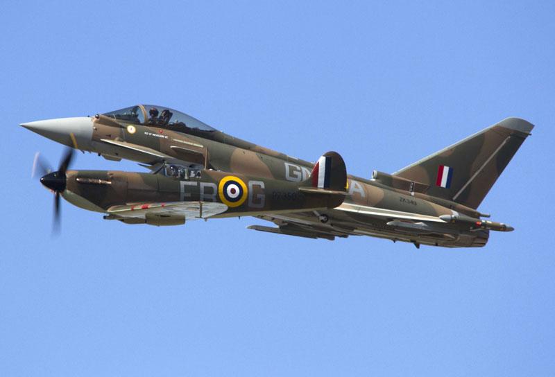 Duxford Typhoon & Spitfire