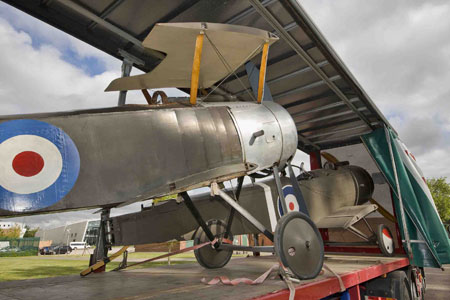 WW1 aircraft arrive at Cosford