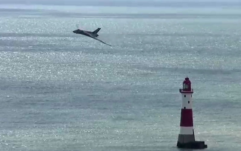 Vulcan bomber at Beachy Head