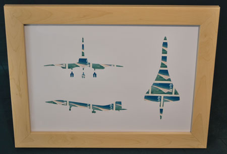 concorde framed stamp art