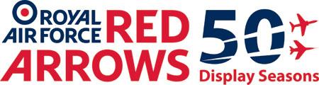 Red Arrows 50 Display Seasons logo