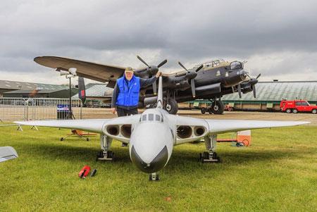 RAF Cosford Vulcan Bomber model